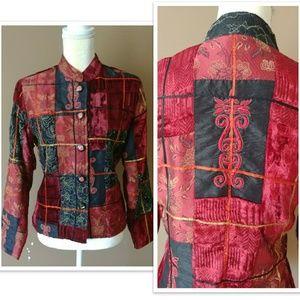 Casual Studio Jackets & Coats - 🌹 VTG Velvet Embroidery Jacket